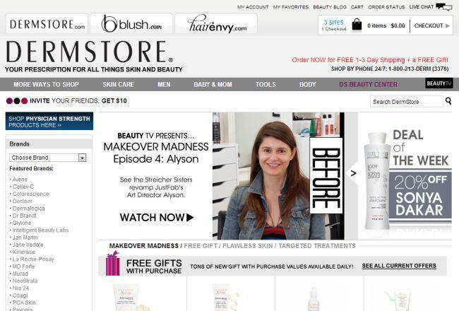 Интернет-магазин Dermstore.com