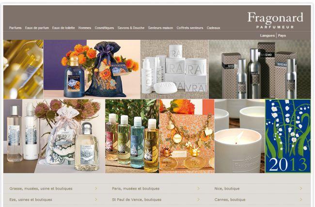Интернет-магазин Fragonard.com