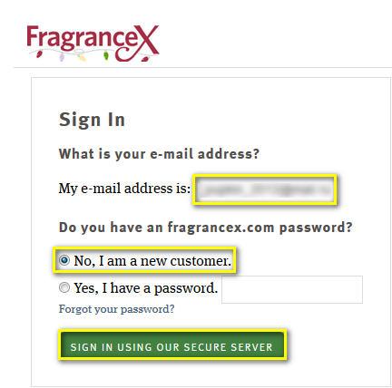 Регистрация на Fragrancex.com