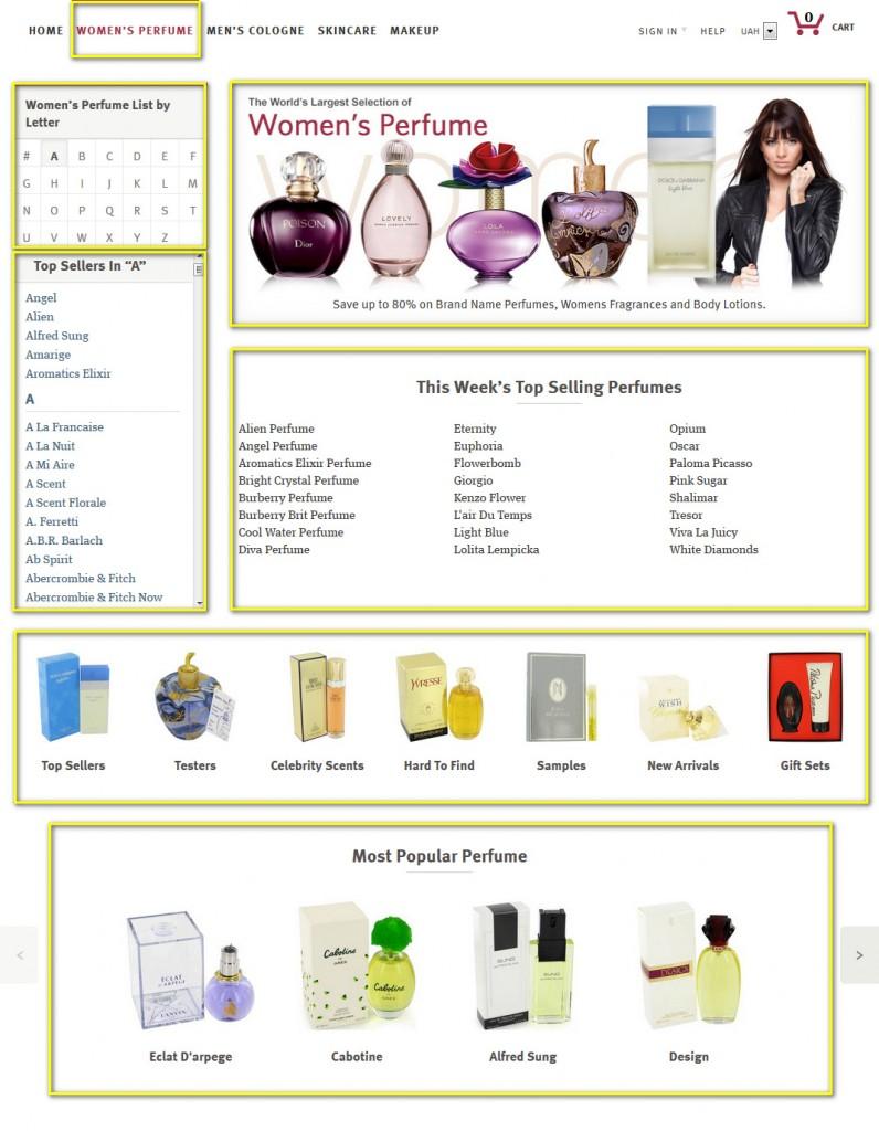 Как найти товар на fragrancex.com