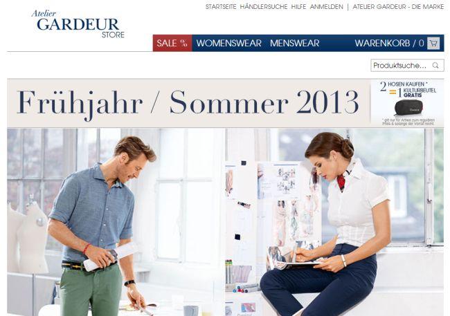 Интернет-магазин Gardeur.de