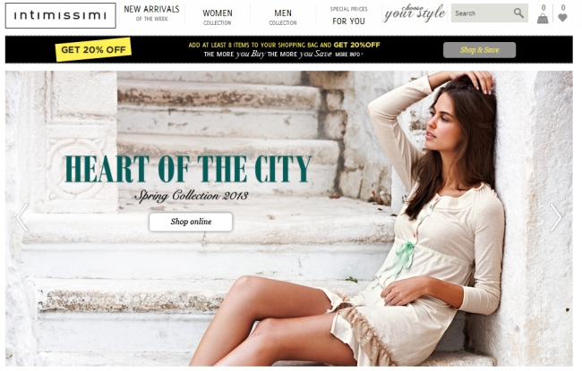 Интернет-магазин Uk.intimissimi.com