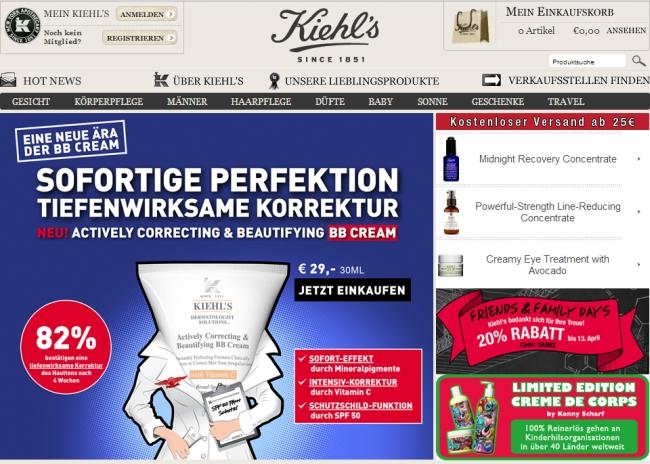Интернет-магазин Kiehls.de