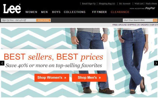 Интернет-магазин Lee.com