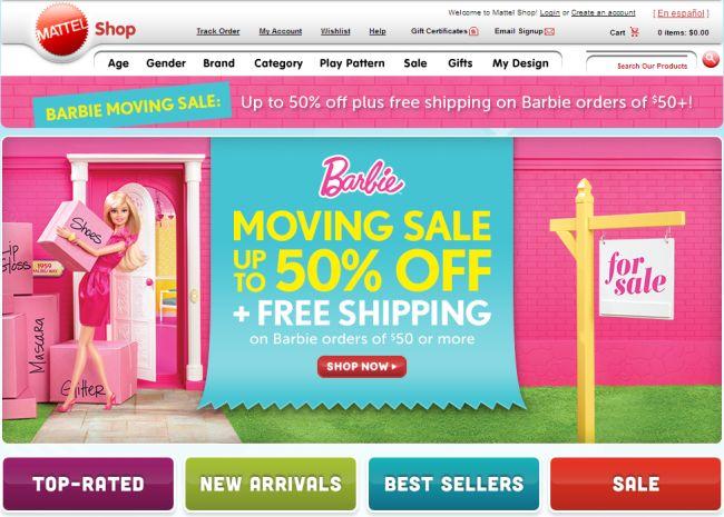 Интернет-магазин Shop.mattel.com