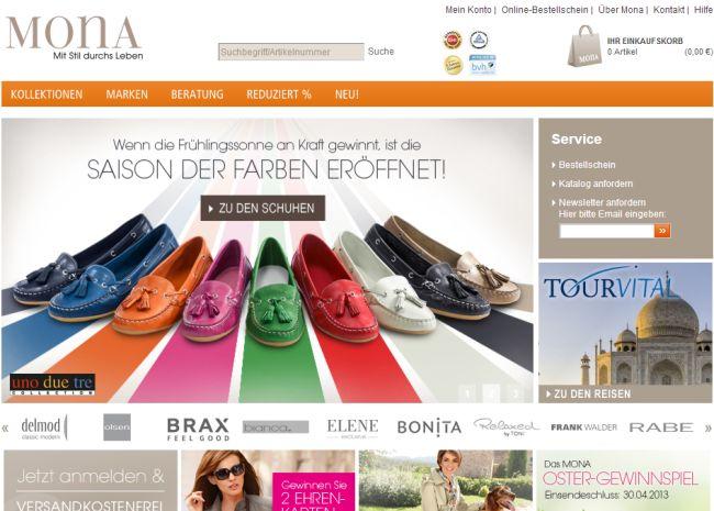 Интернет-магазин Mona.de