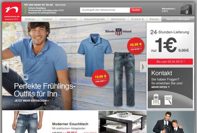 Интернет-магазин Neckermann.de
