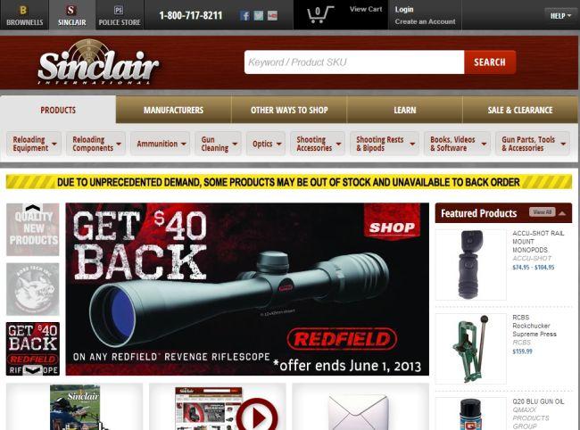 Интернет-магазин Sinclairintl.com