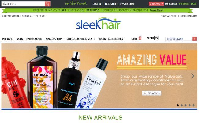 Интернет-магазин SleekHair.com