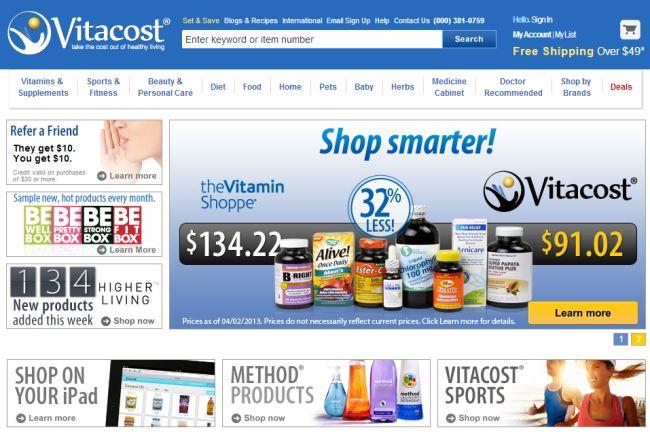 Интернет-магазин Vitacost.com