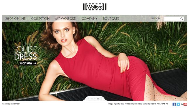 Интернет-магазин Wolford.com