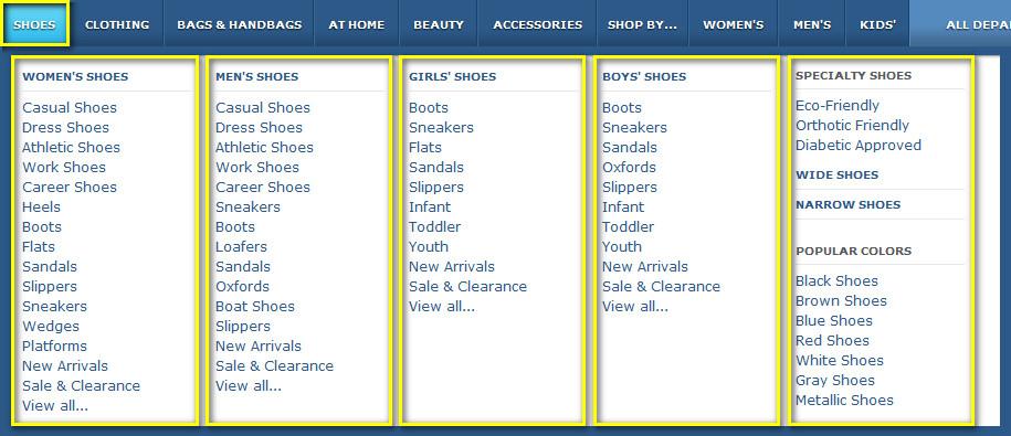 Как найти товар на Zappos.com