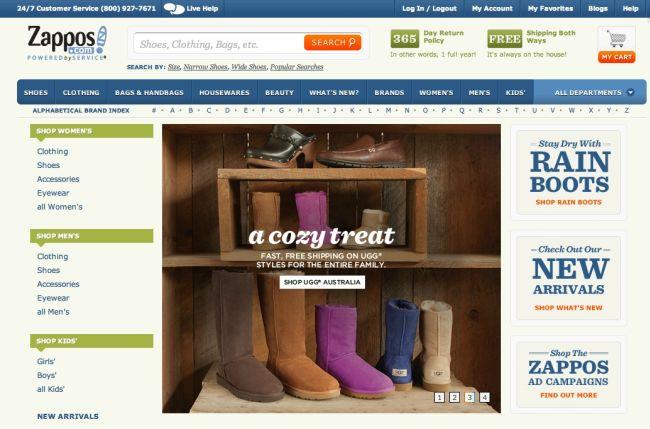 Интернет-магазин Zappos.com