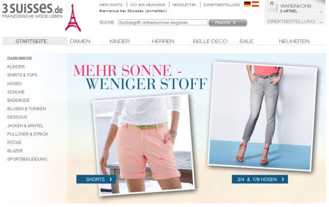 Интернет-магазин 3suisses.de