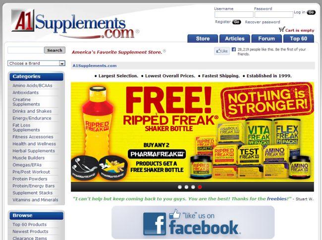 Интернет-магазин A1supplements.com