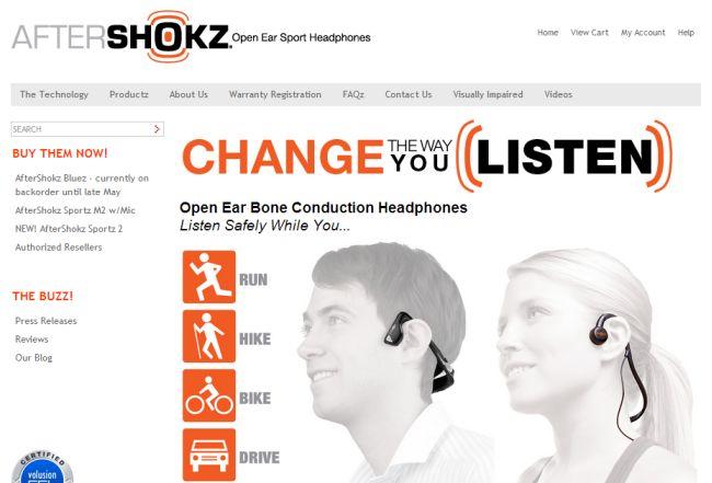 Интернет-магазин Aftershokz.com
