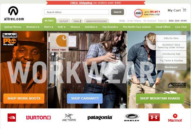 Интернет-магазин Altrec.com
