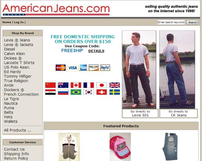 Интернет-магазин Americanjeans.com