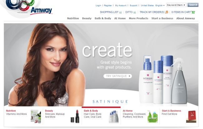 Интернет-магазин Amway.com