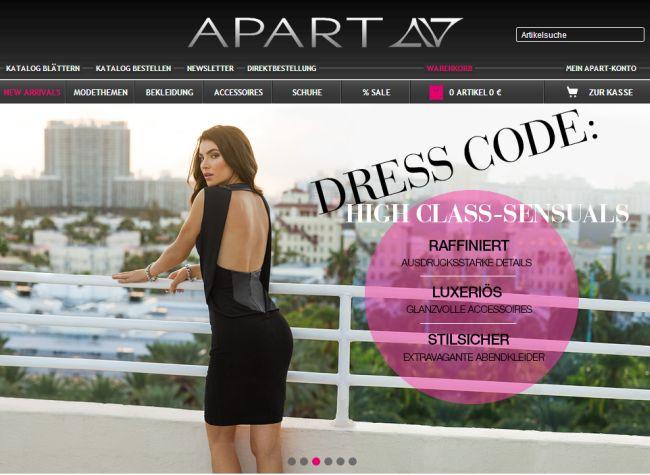 Интернет-магазин Apart-fashion.de