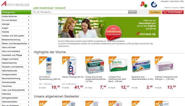 Интернет-магазин Apotheke.de