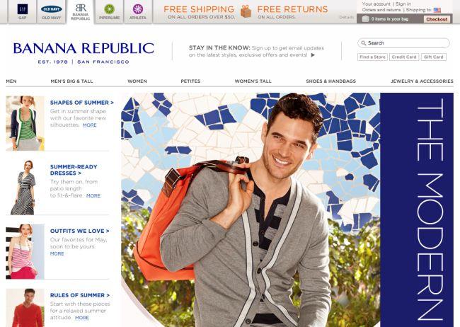 Интернет-магазин Bananarepublic.gap.com