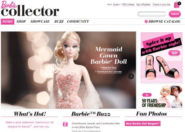 Интернет-магазин Barbiecollector.com