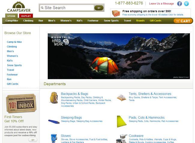 Интернет-магазин Campsaver.com