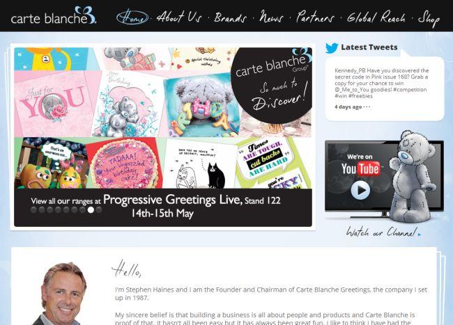 Интернет-магазин Carteblanchegreetings.com
