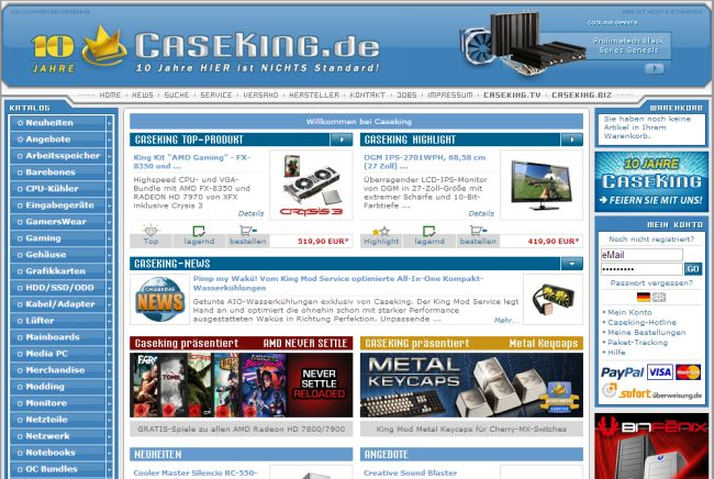 Интернет-магазин Caseking.de