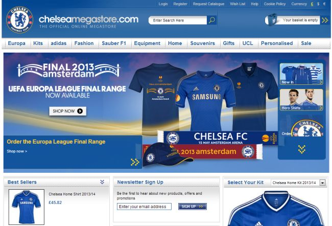 Интернет-магазин Chelseamegastore.com