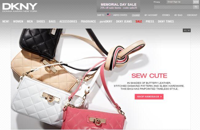 Интернет-магазин DKNY.com