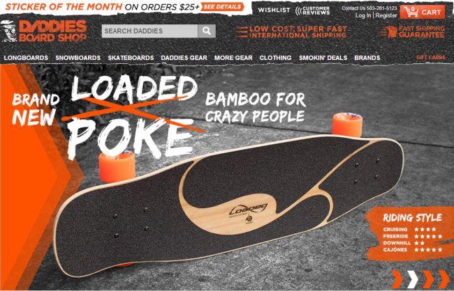 Интернет-магазин Daddiesboardshop.com