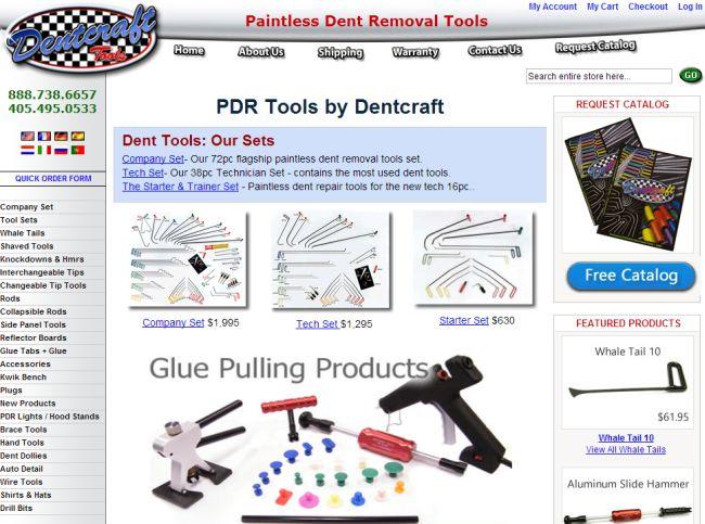 Интернет-магазин Dentcrafttools.com