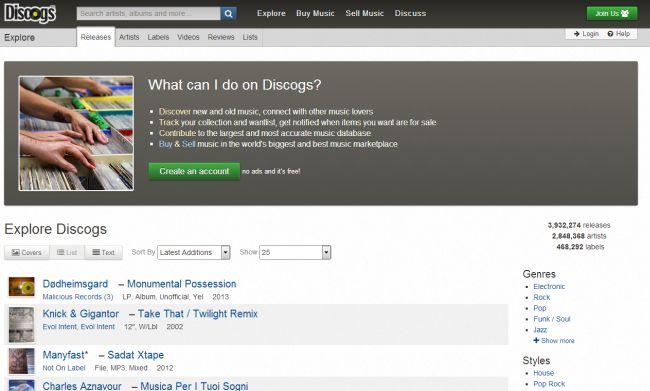Интернет-магазины Discogs.com
