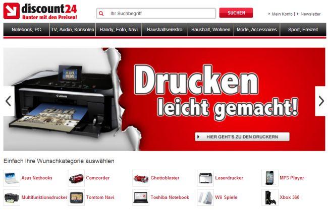 Интернет-магазин Discount24.de
