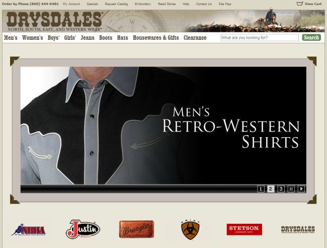Интернет-магазин Drysdales.com
