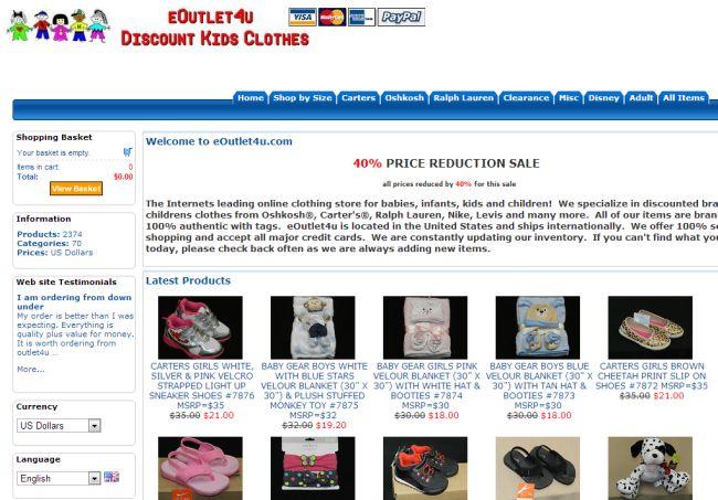 Интернет-магазин Eoutlet4u.com