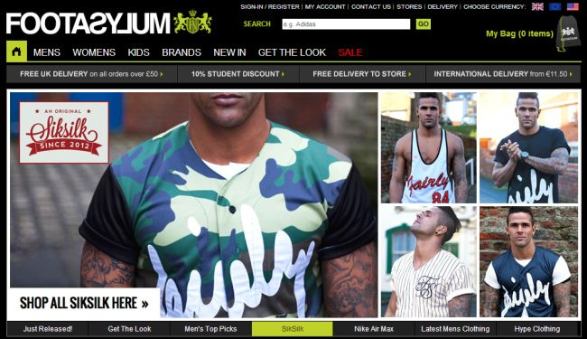 Интернет-магазин Footasylum.com