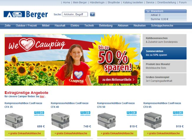 Интернет-магазин Fritz-berger.de