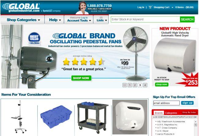 Интернет-магазин Globalindustrial.com