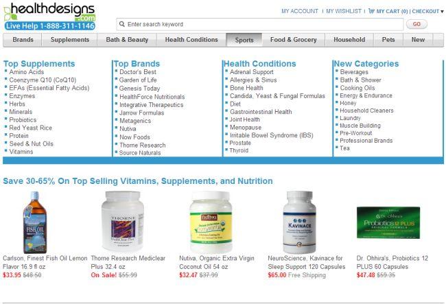 Интернет-магазин Healthdesigns.com