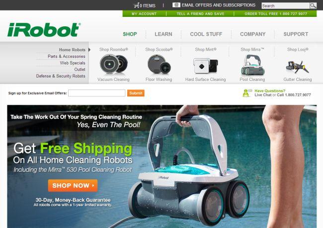 Интернет-магазин Irobot.com