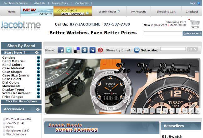 Интернет-магазин Jacobtime.com