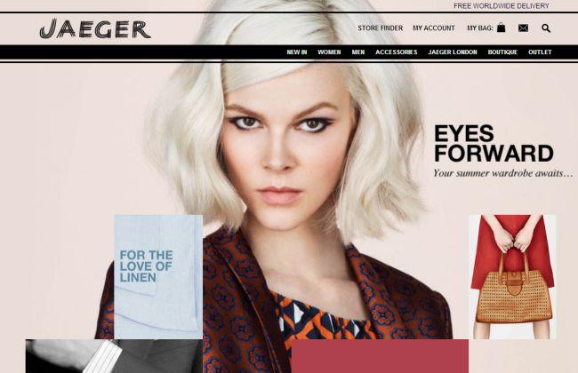 Интернет-магазин Jaeger.co.uk
