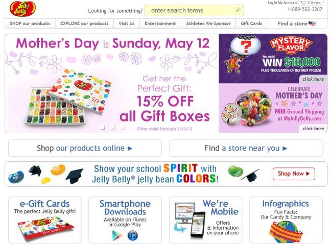 Интернет-магазин Jellybelly.com