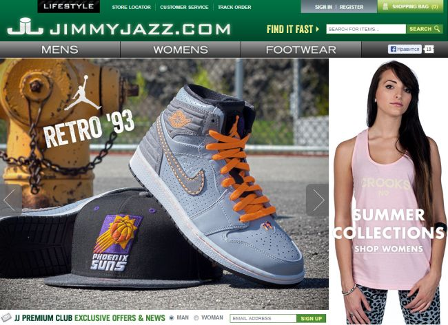 Интернет-магазин Jimmyjazz.com