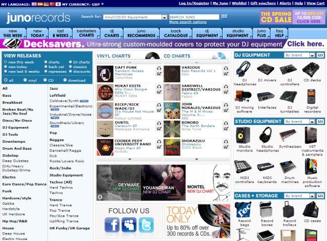 Интернет-магазин Juno.co.uk