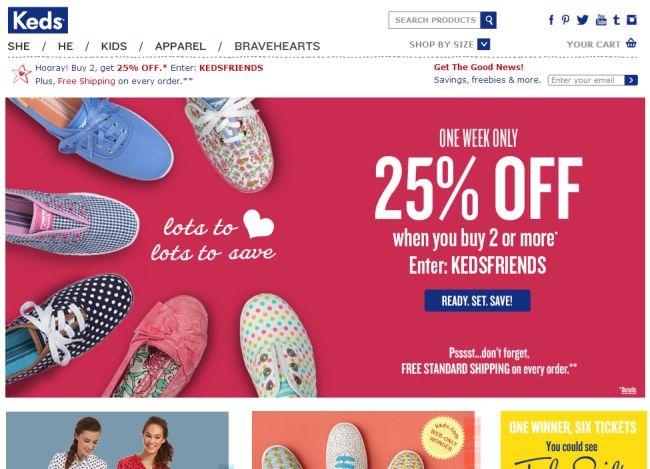 Интернет-магазин Keds.com