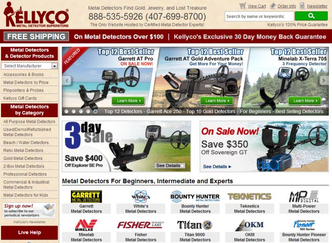 Интернет-магазин Kellycodetectors.com